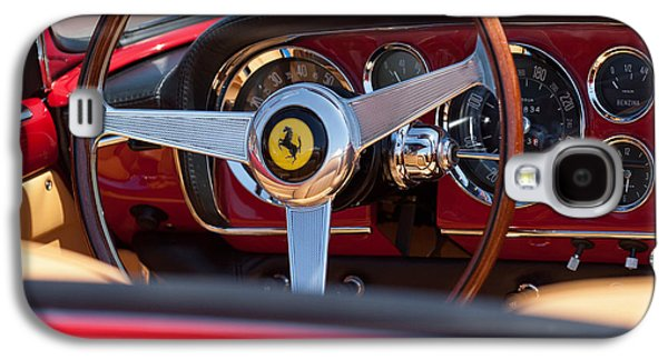 1960 Galaxy S4 Cases - 1960 Ferrari 250 GT Cabriolet Pininfarina Series II Steering Wheel Emblem Galaxy S4 Case by Jill Reger