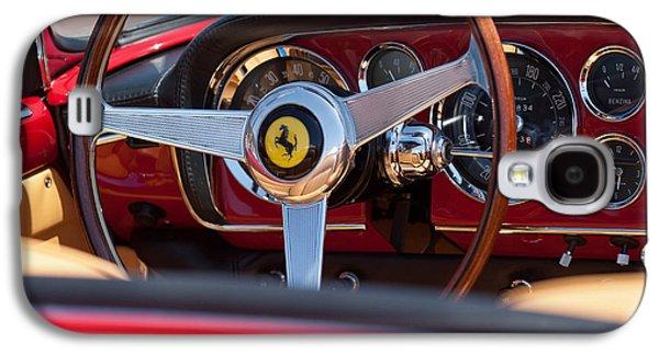 1960 Photographs Galaxy S4 Cases - 1960 Ferrari 250 GT Cabriolet Pininfarina Series II Steering Wheel Emblem Galaxy S4 Case by Jill Reger