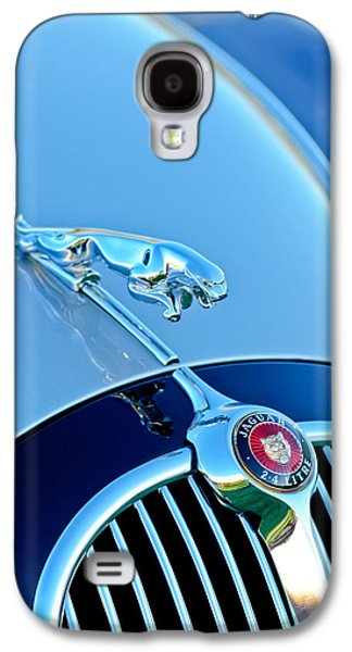 1960 Photographs Galaxy S4 Cases - 1960 Jaguar Mk II 2.4-liter Saloon Grille Emblem - Hood Ornament Galaxy S4 Case by Jill Reger