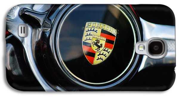 1960 Galaxy S4 Cases - 1960 Porsche 356 B Roadster Steering Wheel Emblem Galaxy S4 Case by Jill Reger
