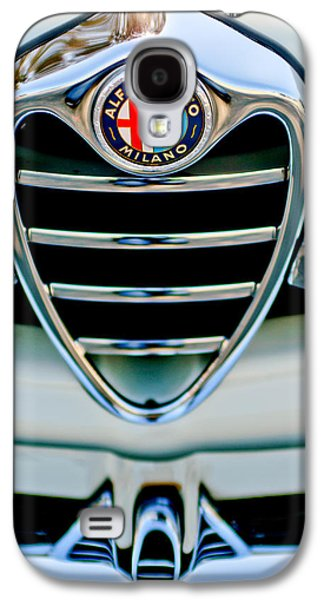 Sprint Galaxy S4 Cases - 1962 Alfa Romeo Giulietta Coupe Sprint Speciale Grille Emblem Galaxy S4 Case by Jill Reger