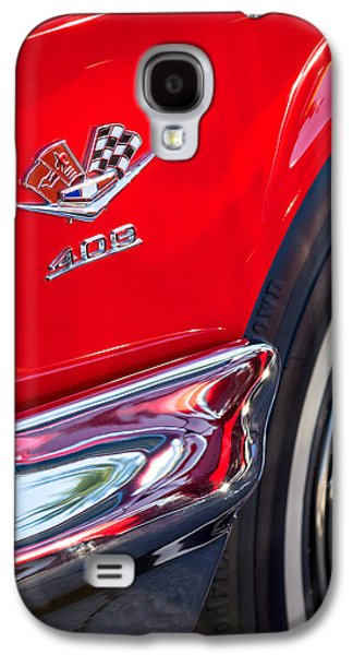 Car Photographs Galaxy S4 Cases - 1962 Chevrolet Impala SS 409 Emblem Galaxy S4 Case by Jill Reger