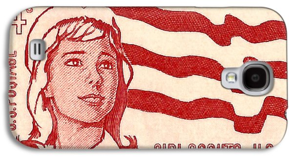 Us Postal Service Galaxy S4 Cases - 1962 Girl Scouts of America Postage Stamp Galaxy S4 Case by David Patterson