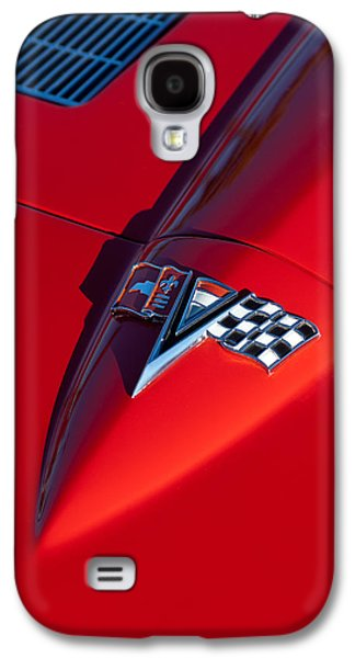 Recently Sold -  - Sports Photographs Galaxy S4 Cases - 1963 Chevrolet Corvette Hood Emblem Galaxy S4 Case by Jill Reger