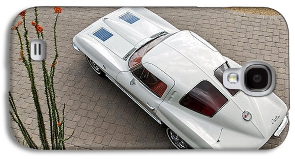 1963 Chevrolet Corvette Split Window -440c Galaxy S4 Case by Jill Reger
