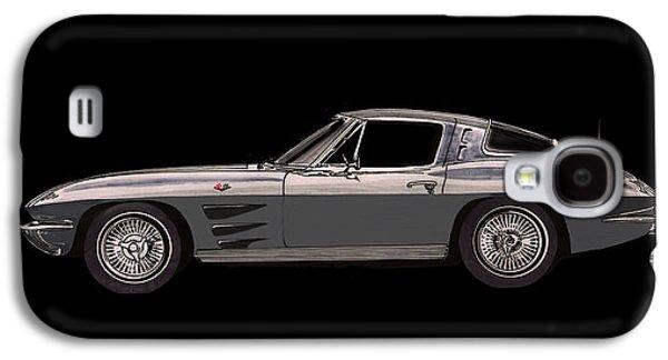 Replacing Galaxy S4 Cases - 1963 Corvette Split Rear Window Galaxy S4 Case by Jack Pumphrey