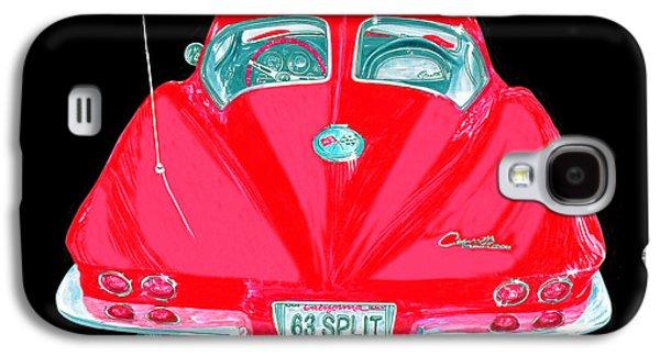 Replacing Galaxy S4 Cases - 1963 Corvette Split Window Coupe Galaxy S4 Case by Jack Pumphrey