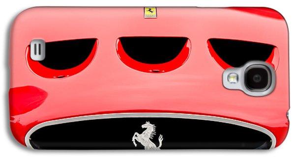 Hood Ornament Photographs Galaxy S4 Cases - 1963 Ferrari 250 Gto Grille Emblem -1753c Galaxy S4 Case by Jill Reger