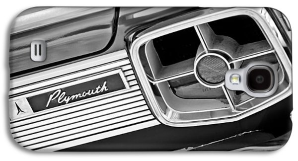 Fury Galaxy S4 Cases - 1963 Plymouth Fury Taillight Emblem -3321bw Galaxy S4 Case by Jill Reger