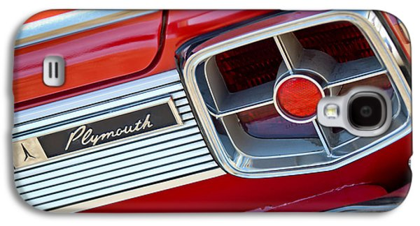 Fury Galaxy S4 Cases - 1963 Plymouth Fury Taillight Emblem -3321c Galaxy S4 Case by Jill Reger