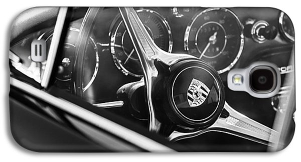 Transportation Photographs Galaxy S4 Cases - 1963 Porsche 356 B 1600 Coupe Steering Wheel Emblem Galaxy S4 Case by Jill Reger