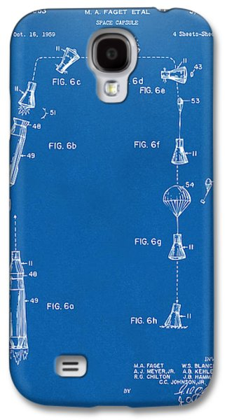 Capsule Galaxy S4 Cases - 1963 Space Capsule Patent Blueprint Galaxy S4 Case by Nikki Marie Smith