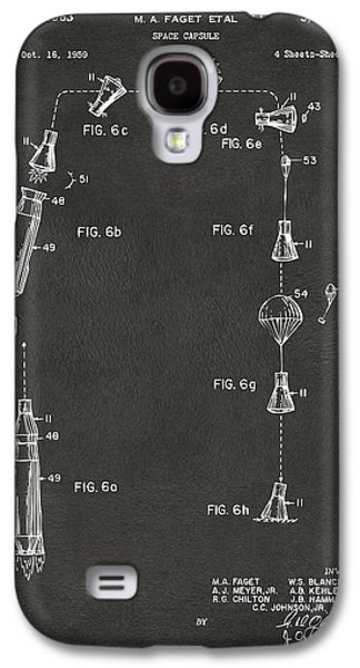 1963 Space Capsule Patent Gray Galaxy S4 Case by Nikki Marie Smith