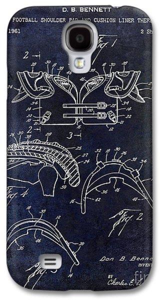 1964 Football Shoulder Pads Patent Blue Galaxy S4 Case by Jon Neidert