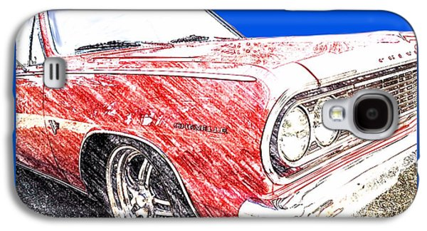 Charlotte Mixed Media Galaxy S4 Cases - 1964 Malibu SS Galaxy S4 Case by Morgan Carter