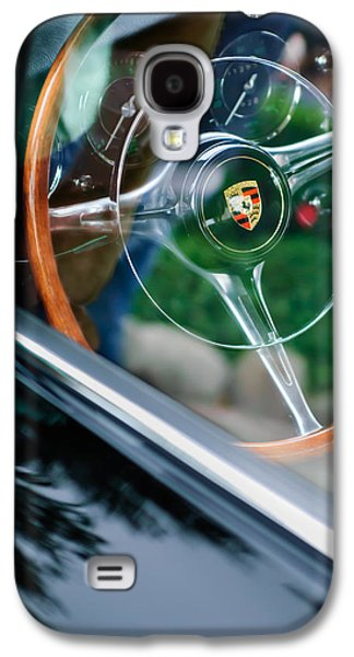Transportation Photographs Galaxy S4 Cases - 1964 Porsche 356 C Cabriolet Steering Wheel Emblem Galaxy S4 Case by Jill Reger