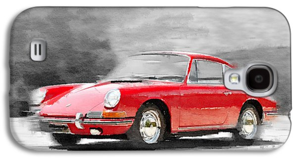 911 Galaxy S4 Cases - 1964 Porsche 911 Watercolor Galaxy S4 Case by Naxart Studio