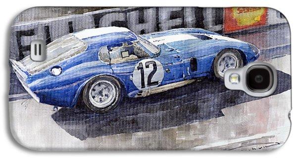 Legend Paintings Galaxy S4 Cases - 1965 Le Mans  Daytona Cobra Coupe  Galaxy S4 Case by Yuriy Shevchuk