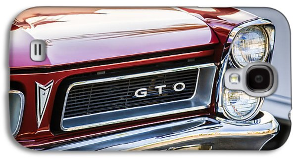 Recently Sold -  - Landmarks Photographs Galaxy S4 Cases - 1965 Pontiac GTO Grille Emblem -0442c Galaxy S4 Case by Jill Reger