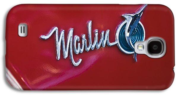 Marlin Galaxy S4 Cases - 1965 Rambler Marlin Emblem Galaxy S4 Case by Jill Reger