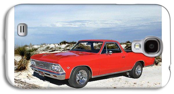 Base Path Galaxy S4 Cases - 1966 Chevrolet El Camino 327 Galaxy S4 Case by Jack Pumphrey