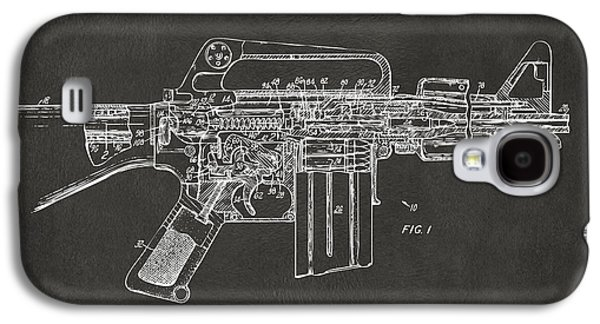 1966 M-16 Gun Patent Gray Galaxy S4 Case by Nikki Marie Smith
