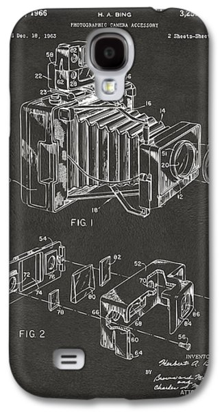 1966 Photographic Camera Accessory Patent Gray Galaxy S4 Case by Nikki Marie Smith