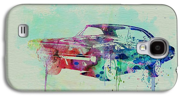 Old Car Drawings Galaxy S4 Cases - 1967 Dodge Charger  2 Galaxy S4 Case by Naxart Studio
