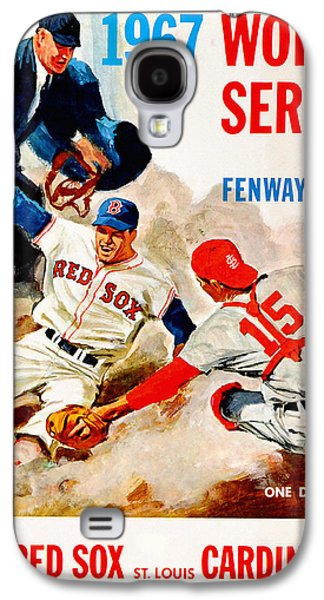 Red Sox Paintings Galaxy S4 Cases - 1967 World Series Program Galaxy S4 Case by Big 88 Artworks