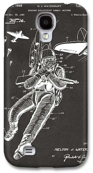 Fight Digital Art Galaxy S4 Cases - 1968 Bulletproof Patent Artwork Figure 14 Gray Galaxy S4 Case by Nikki Marie Smith