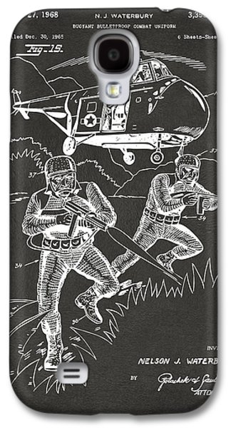 Fight Digital Art Galaxy S4 Cases - 1968 Bulletproof Patent Artwork Figure 15 Gray Galaxy S4 Case by Nikki Marie Smith