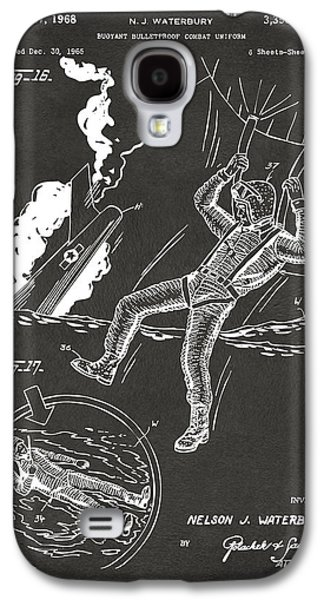 Fight Digital Art Galaxy S4 Cases - 1968 Bulletproof Patent Artwork Figure 16 Gray Galaxy S4 Case by Nikki Marie Smith