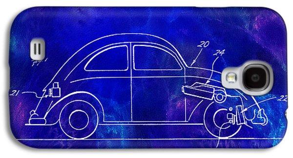 1968 Vw Patent Drawing Blue Galaxy S4 Case by Jon Neidert