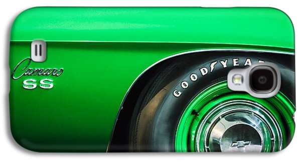Recently Sold -  - Sports Photographs Galaxy S4 Cases - 1969 Chevrolet Camaro 396 RS SS L89 Side Emblem Galaxy S4 Case by Jill Reger