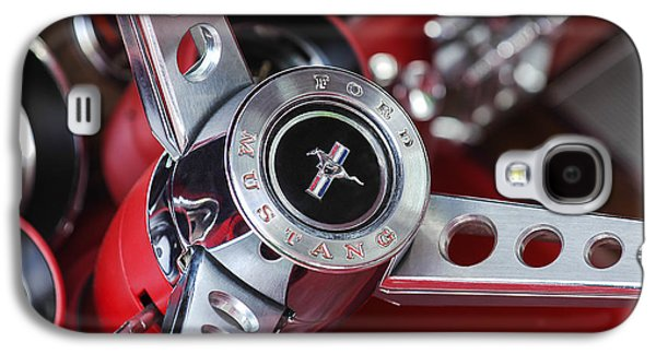 1969 Ford Mustang Mach 1 Steering Wheel Galaxy S4 Case by Jill Reger