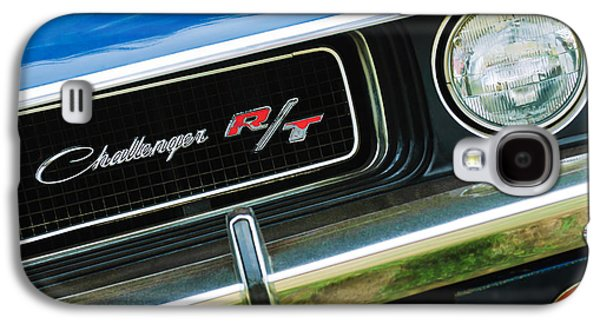 Challenger Galaxy S4 Cases - 1970 Dodge Challenger RT Convertible Grille Emblem Galaxy S4 Case by Jill Reger