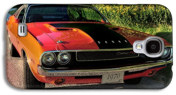 Challenger Galaxy S4 Cases - 1970 Dodge Challenger RT Galaxy S4 Case by Thomas Schoeller