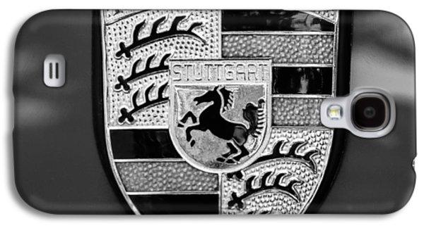 Transportation Photographs Galaxy S4 Cases - 1970 Porsche 911 S 2.2 Coupe Emblem -0036bw55 Galaxy S4 Case by Jill Reger
