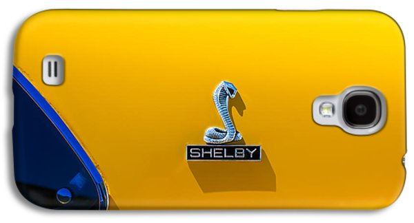 Transportation Photographs Galaxy S4 Cases - 1970 Shelby Cobra GT350 Fastback Emblem Galaxy S4 Case by Jill Reger