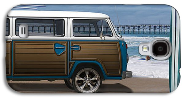 Pier Digital Galaxy S4 Cases - 1970 VW Bus Woody Galaxy S4 Case by Mike McGlothlen