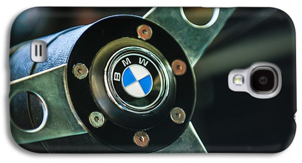 Transportation Photographs Galaxy S4 Cases - 1971 BMW 3.0CSL Lightweight Prototype - Steering Wheel Emblem -0498c Galaxy S4 Case by Jill Reger
