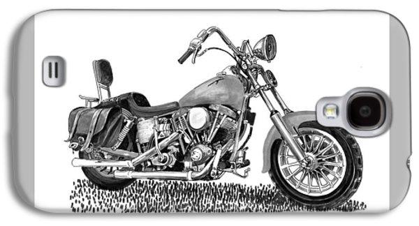 Replacing Galaxy S4 Cases - 1971 Harley Davidson S O A Shovel head F  L Galaxy S4 Case by Jack Pumphrey