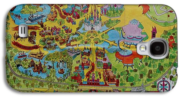 1971 Original Map Of The Magic Kingdom Galaxy S4 Case by Rob Hans