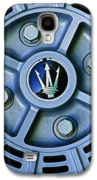 Transportation Photographs Galaxy S4 Cases - 1974 Maserati Merak Wheel Emblem Galaxy S4 Case by Jill Reger