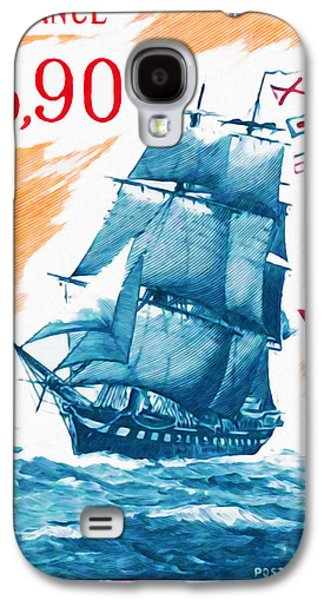 Frigates Paintings Galaxy S4 Cases - 1975 COMMANDER Melpomene Galaxy S4 Case by Lanjee Chee
