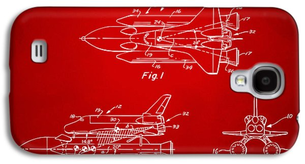 1975 Space Shuttle Patent - Red Galaxy S4 Case by Nikki Marie Smith