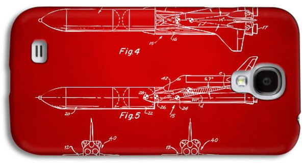 1975 Space Vehicle Patent - Red Galaxy S4 Case by Nikki Marie Smith