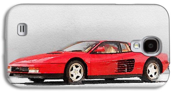 Old Mixed Media Galaxy S4 Cases - 1983 Ferrari 512 Testarossa Galaxy S4 Case by Naxart Studio