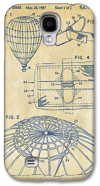 1987 Hot Air Balloon Patent Artwork - Vintage Galaxy S4 Case by Nikki Marie Smith
