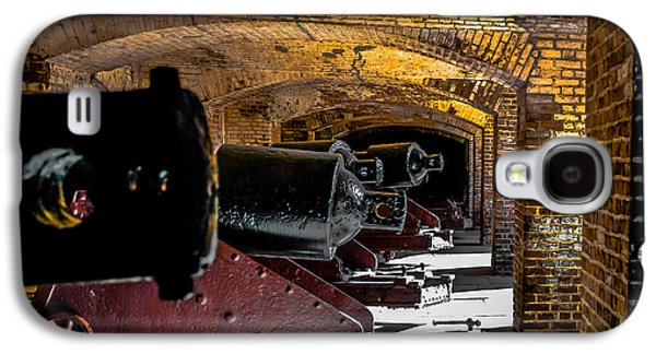 19th Century Cannon Line Galaxy S4 Case by Optical Playground By MP Ray